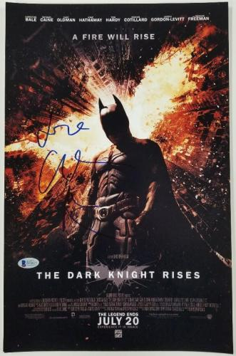 CHRISTIAN BALE Signed BATMAN Dark Knight Rises 11x17 Poster BAS COA Beckett PSA