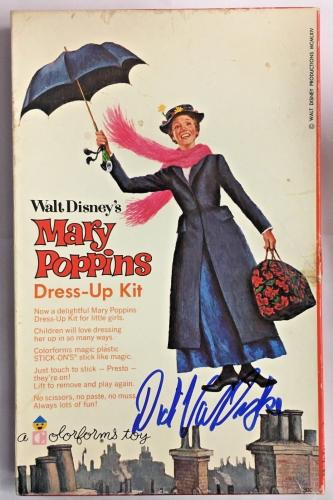 DICK VAN DYKE Signed 1964 MARY POPPINS Vintage Dress Up Game BAS COA AUTOGRAPH