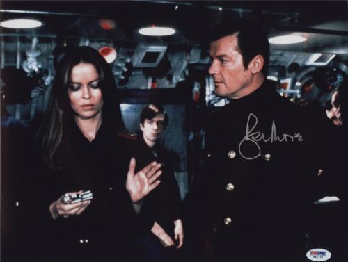 Roger Moore Signed James Bond 007 Photo 11x14 - Autographed PSA DNA 14