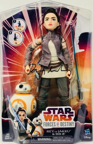 "Daisy Ridley Autographed Rey 12"" Inch Figurine Figurine Star Wars - Beckett BAS"