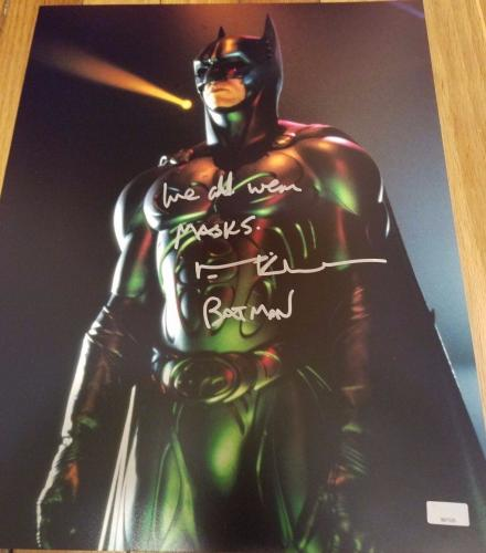 Val Kilmer Signed 11x14 Batman Color Photo Rare Quote! Celebrity Authentics