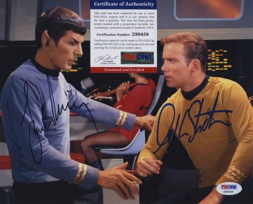 William Shatner & Leonard Nimoy Star Trek Signed  Psa/dna Photo Z99459