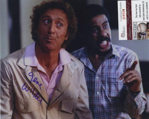 Gene Wilder Signed Autographed Stir Crazy Color Photo Jsa Spence Coa