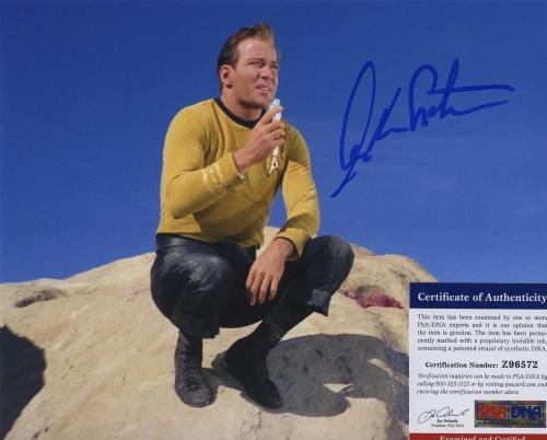 William Shatner Star Trek Signed Autographed Color 8x10 Photo Psa Dna Z96572
