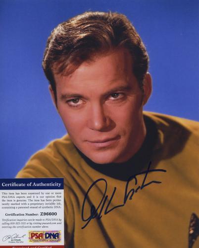 William Shatner Star Trek Signed Autographed Color 8x10 Photo Psa Dna Z96600