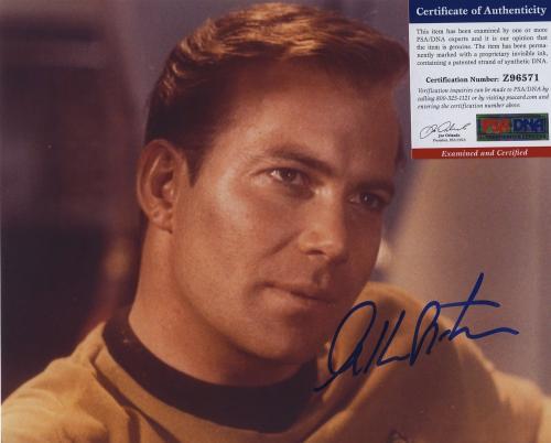William Shatner Star Trek Signed Autographed Color 8x10 Photo Psa Dna Z96571