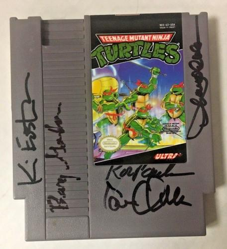 Tmnt Teenage Mutant Ninja Turtles Cast/eastman Signed Nintendo Game Bas Coa C