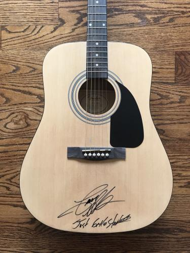 Music Country Music Superstar Jason Aldean Signed Full Size Acoustic Guitar Beckett 2 Country