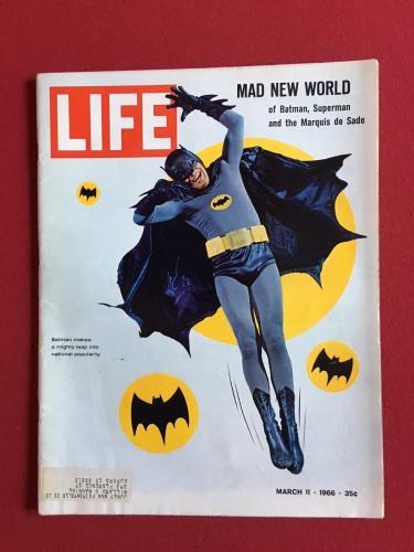 """1966, Batman, """"LIFE"""" Magazine (Coca-Cola Back Cover) Scarce"""