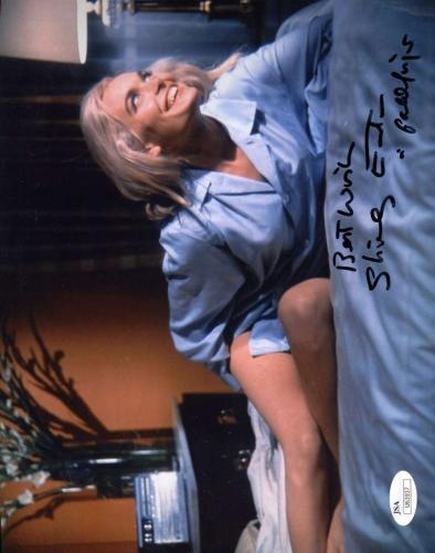Shirley Eaton Jsa Coa Hand Signed Goldfinger 8x10 Photo Autographed