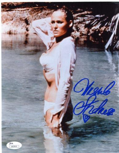 URSULA ANDRESS BOND GIRL JSA COA Hand Signed 8X10 Photo Autograph Authentic