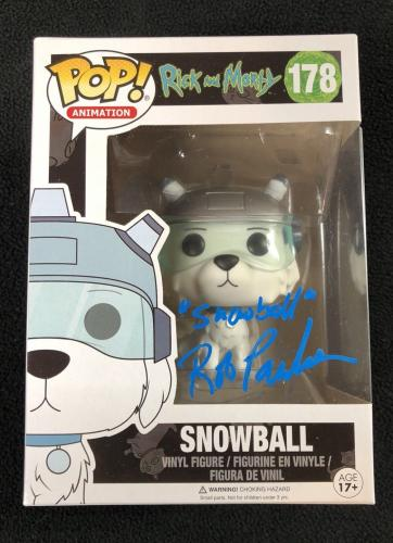 Rob Paulsen Signed Rick And Morty Snowball Funko Pop Figure