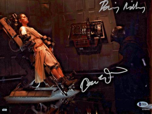Driver & Ridley Signed Star Wars Jedi 11x14 Photo - Kylo Ren Rey Beckett BAS 4
