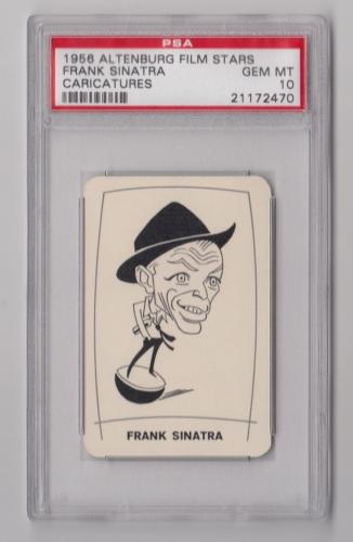 1956 Altenburg Film Stars Frank Sinatra Caricatures Card Psa 10 Gem Mint Pop 1
