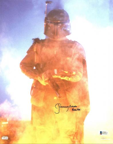 "Jeremy Bulloch Star Wars ""Boba Fett"" Signed Topps 11x14 Photo BAS Witnessed"