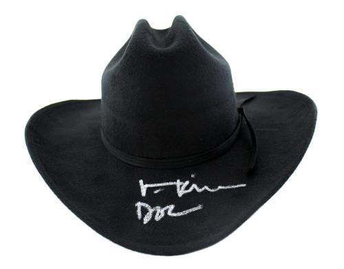 "Val Kilmer Signed Tombstone Black Felt Hat With ""Doc"" Inscription"