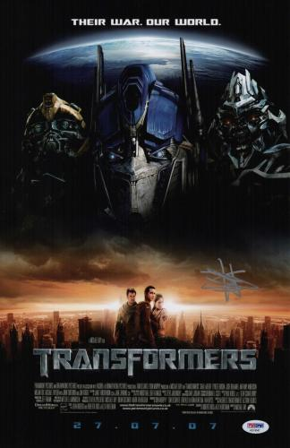 Shia Labeouf Signed Transformers 11x17 Movie Poster Psa Coa Ad74547