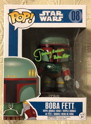 Jeremy Bulloch Signed Autographed Boba Fett Funko Pop Star Wars Beckett COA 13