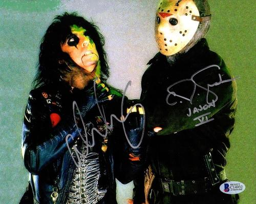 ALICE COOPER & C.J. GRAHAM Signed Friday The 13th 8x10 Photo Beckett BAS #C14932