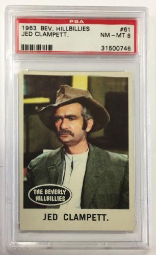 1963 Beverly Hillbillies Jed Clampett. Card #61 Psa 8 Nm-mt