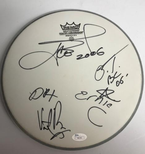 """ICE T/Body Count band signed 10"""" Drum Head-JSA I61331"""