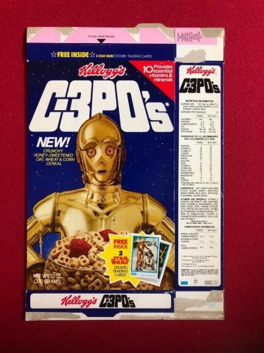 1984, Star Wars, C-3PO's Cereal Box (Flat) Scarce (Kellogg's)