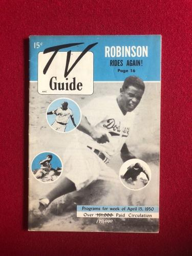 "1950, Jackie Robinson, ""TV Guide"" (RARE) Brooklyn Dodgers"
