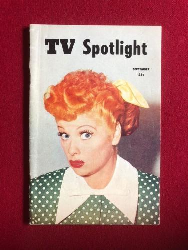 "1953, Lucille Ball, ""TV Spotlight"" (RARE) (No Label)"