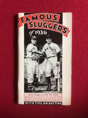 "1936, Lou Gehrig / Mel Ott, ""FAMOUS SLUGGERS"" Guide (Scarce)"