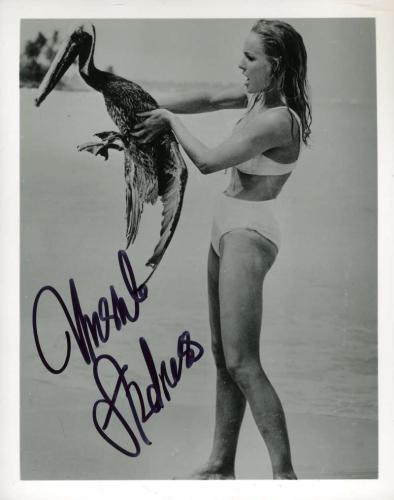 Ursula Andress Psa Dna Cert Hand Signed 8x10 James Bond Photo Autographed
