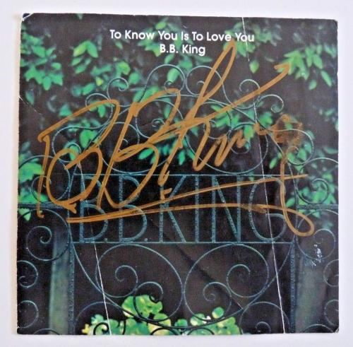 BB King To Know You Signed Autographed CD Cover PSA & BAS Guaranteed READ