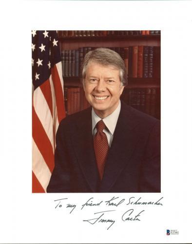 Jimmy Carter Signed Mounted 8x10 Original White House Photo BAS #E37681