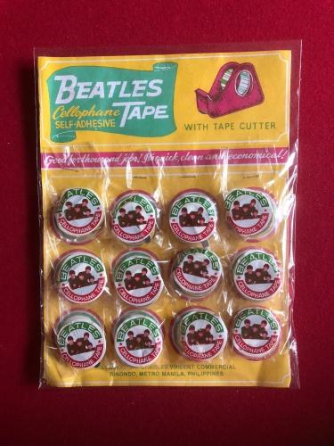 """1964, Beatles, """"Un-Used"""" Display of Cellophane Tape (12 Rolls) Scarce"""