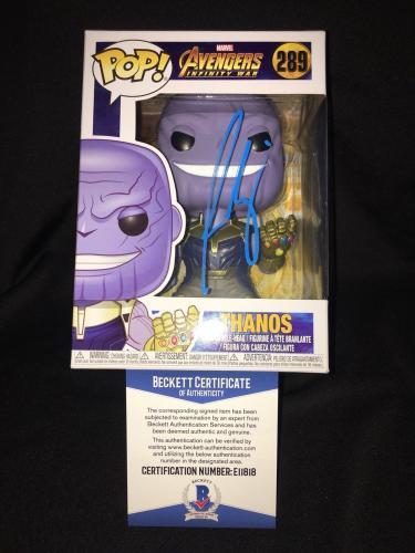 Josh Brolin Signed Official Thanos Funko Pop Marvel Avenger Infinity War Beckett