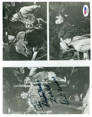 Clayton Moore Psa Dna Coa Hand Signed Authentic Zorro 8x10 Photo Autograph