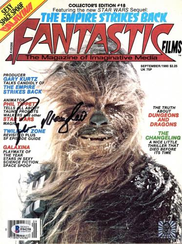 PETER MAYHEW Signed Autographed Star Wars Magazine BECKETT BAS #F04258