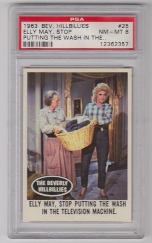 1963 Beverly Hillbillies Elly May Stop Putting... Card #25 Psa 8 Nm-mt Centered