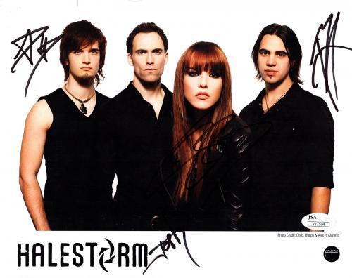 Halestorm band autographed 8x10 phtot reprint