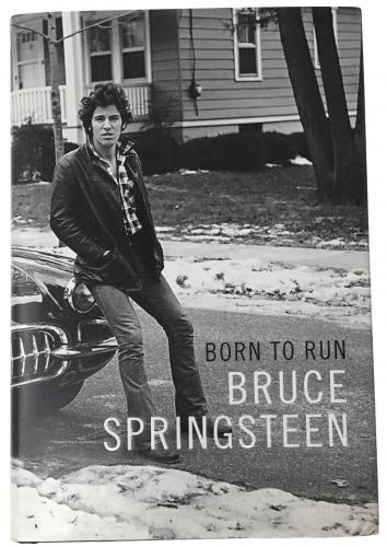Bruce Springsteen Signed Born To Run Hardcover Book PSA AB12049