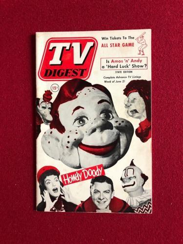 "1952, Howdy Doody, ""TV DIGEST"" (No Label) Scarce"