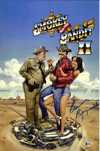 Burt Reynolds Signed 11x17 Smokey and the Bandit 2 Movie Poster Photo - Beckett