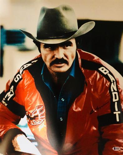 Burt Reynolds Signed 16x20 Smokey and the Bandit Photo -  Red Jacket Beckett BAS