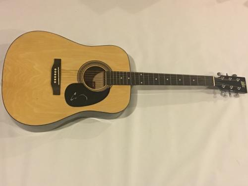 Corey Taylor Signed Natural Acoustic Guitar Slipknot Stone Sour Proof Jsa Coa