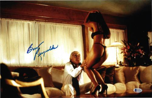 Burt Reynolds Signed 11x17 Striptease Photo - Beckett BAS