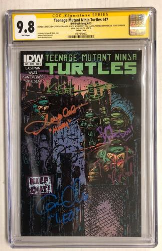 Teenage Mutant Ninja Turtles #47 Cast Signed Comic Eastman Fraley Cgc Series 9.8