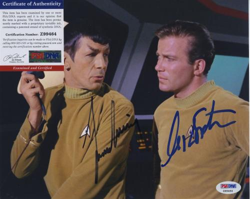 William Shatner & Leonard Nimoy Star Trek Signed  Psa/dna Photo Z99464