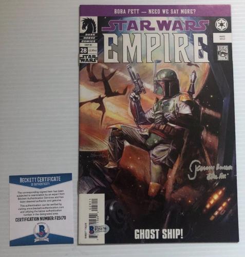 Jeremy Bulloch Signed Autographed Stars Wars Boba Fett Comic BECKETT COA 3