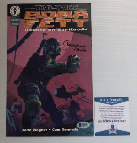 Jeremy Bulloch Signed Autographed Stars Wars Boba Fett Comic BECKETT COA