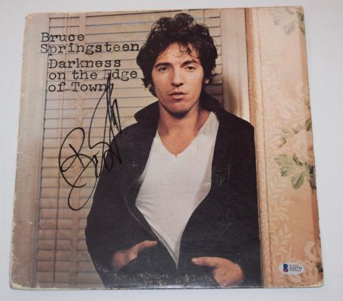 Bruce Springsteen Signed DARKNESS ON THE EDGE OF TOWN Record Album LP BAS COA