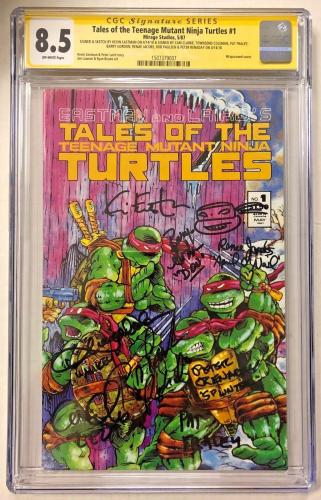 Tales Of The Tmnt #1 Cast Signed Comic Eastman Clarke Cgc Sig Series Auto 8.5 B